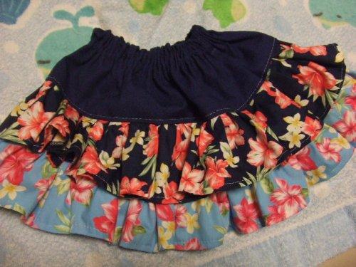 他の写真2: ★ハイビスカス柄★二段フリルスカート