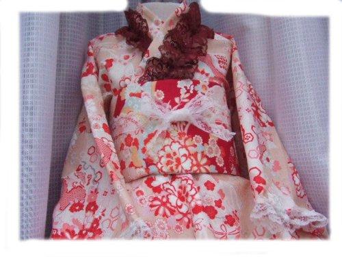 他の写真1: ゴスロリ着物ドレス(浴衣)★ピンクベージュ和風花柄