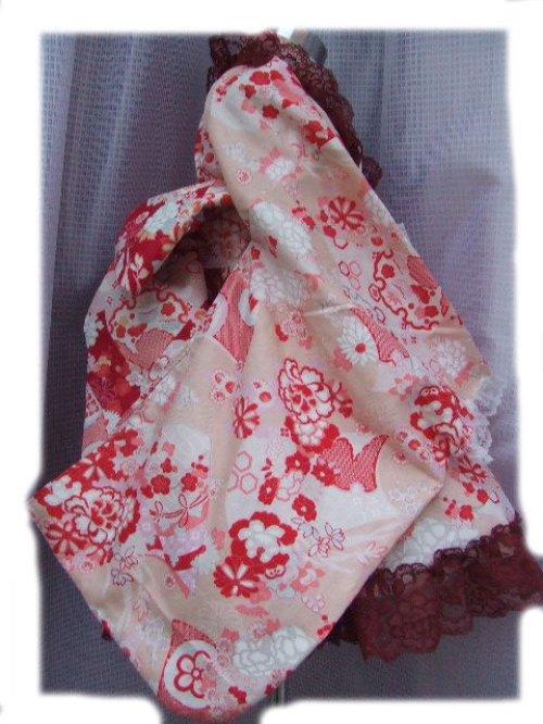他の写真2: ゴスロリ着物ドレス(浴衣)★ピンクベージュ和風花柄